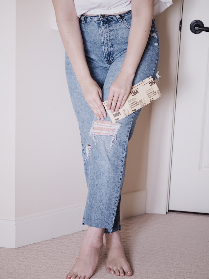 A Complete Guide To Distressing Denim The Vic Version